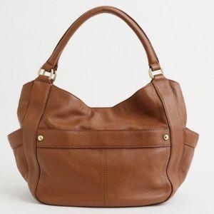 J. Crew Campo Pebble Leather hobo bag